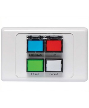 Redback Lockdown / Fire / Chime / Cancel Remote Wall Plate A2069