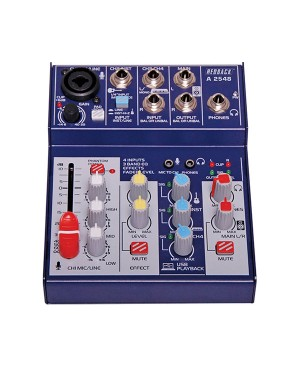 Redback 4 Channel Mixer, USB Output & Effects A2548