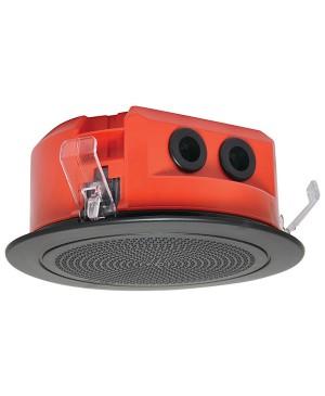 One-Shot 100mm 100V 5W Ceiling EWIS Speaker Black Grille C2161A