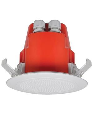 One-Shot 100mm 100V 5W Ceiling EWIS Speaker White Plastic Grille C2170