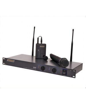 Redback UHF Wireless Microphone Sys 2 Ch, Handheld