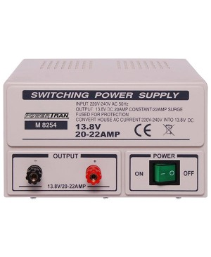 Powertran Fixed 13.8V 20A Benchtop Regulated Power Supply M8254