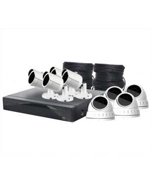 5MP Surveillance CCTV DVR +4 Dome/ +4 Bullet Camera Package S9907D