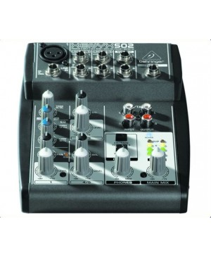 Behringer 502 5-Input 2-Bus Mixer XENYX Mic Preamp
