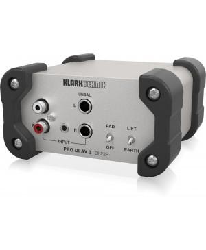 KLARK TEKNIK DI 22P Passive Stereo DI Box