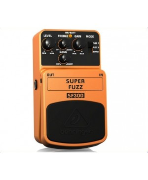 Behringer SF300 3-Mode Fuzz Distortion Guitar Effects Pedal
