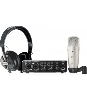 Behringer Pro Recording/Podcasting Bundle, USB, Mic, Headphones