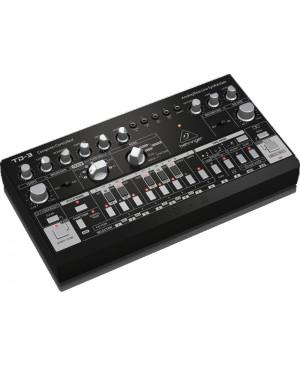 Behringer TD-3-BK Analog Bass Line Synthesizer, VCO, VCF, 16-Step, Black