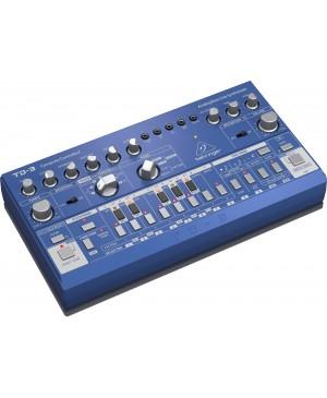 Behringer TD-3-BU Analog Bass Line Synthesizer, VCO, VCF, 16-Step, Blue