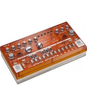 Behringer TD-3-TG Analog Bass Line Synthesizer, VCO, VCF, 16-Step, TANGERINE