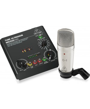 Behringer VOICE-STUDIO Complete Recording Bundle, Mic, Preamp, 16 Voicings