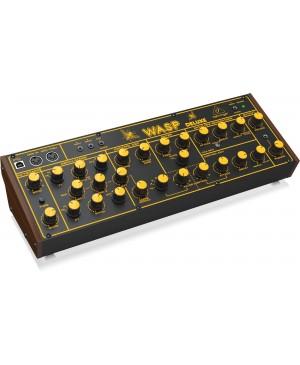 Behringer WASP Hybrid Synthesizer, Dual OSCs, Multi-Mode VCF, 16-Voice