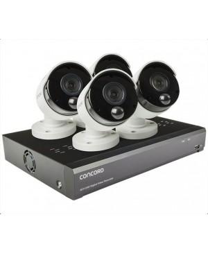 Concord 8 Channel 4K DVR Package - 4x4K Cameras QV5200