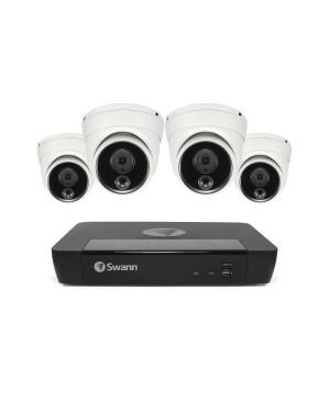 Swann 8CH 4K NVR Kit with 4 x 4K PIR Dome Cameras QV9095 SWNVK-886804D-AU