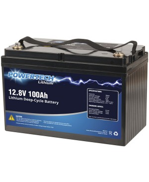 PowerTech 12.8V 100Ah Lithium Deep Cycle Battery SB2215