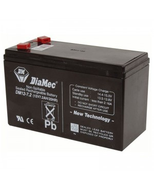 DiaMec 12V 7.2Ah SLA Battery DM12-7.2 SB2486