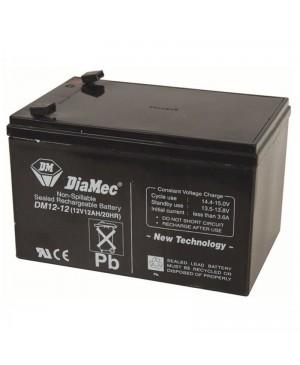 DiaMec 12V 12Ah SLA Battery DM12-12 SB2489