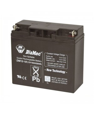 DiaMec 12V 18Ah SLA Battery DM12-18 SB2490