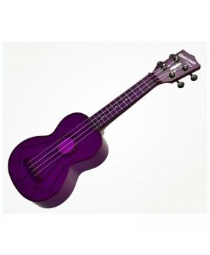 Kala Soprano Waterman Ukulele,Fluorescent Purple MK-SWF/PL