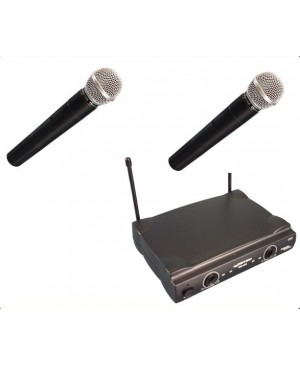 Complete Wireless Microphone System,2 Hand Held Mics WM222