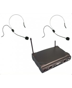 PRICE DROP:Complete Wireless Microphone System,2 Head Worn Mics WM222-HW+HW