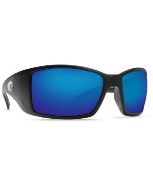 Costa Blackfin Sunglasses, Matte Black Frame, Blue Mirror Lens BL 11 OBMGLP