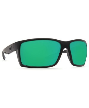 Costa Reefton Sunglasses, Blackout Frame, 580G Green Mirror Lens RFT 01 OGMGLP