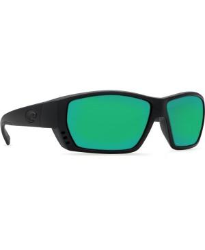Costa Tuna Alley Sunglasses, Black Frame, 580G Green Mirror Lens TA 11 OGMGLP