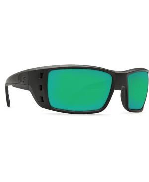 Costa Permit Sunglasses, Black Frame, 580G Green Mirror Lens PT 11 OGMGLP