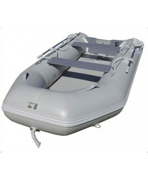 3.3M Inflatable PVC Boat, Air Deck, Grey MMA078