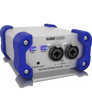 Klark Teknik DN200V2 Active Stereo DI Box, Extended Range