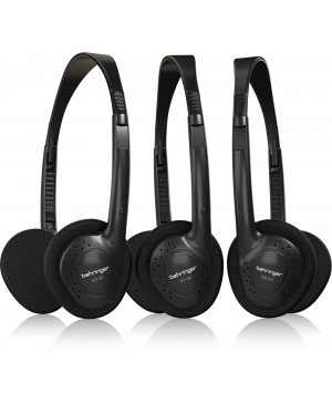 Behringer HO66 Stereo Headphones 3-Multipack Wide-Frequency Headphones