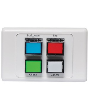 Redback Lockdown/Chime/Fire/Cancel Remote Wall Plate A4599 Made in Australia