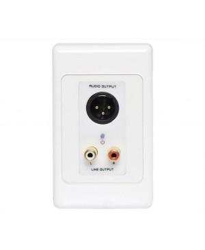 3 Pin XLR & Stereo RCA Input UTP Balun Wallplate A4824