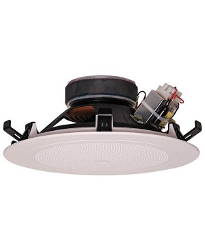 "One-Shot 200mm (8"") 15W 100V Coaxial White One-Shot Ceiling Speaker C2138"