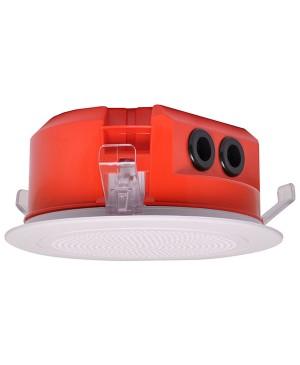One-Shot 100mm 100V 5W Ceiling EWIS Speaker White Grille C2160A