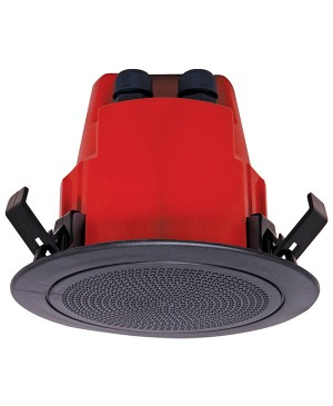 One-Shot 100mm 100V 5W Ceiling EWIS Speaker Black Plastic Grille C2171