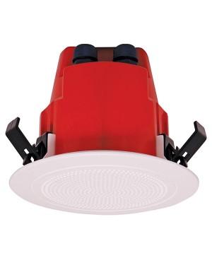One-Shot 100mm 100V 10W Ceiling EWIS Speaker White Plastic Grille C2172