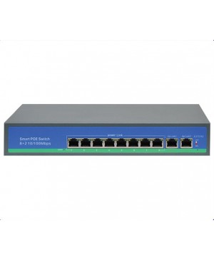 8 Port + 2 Link Ports PoE 10/100 Switch,IP Camera System