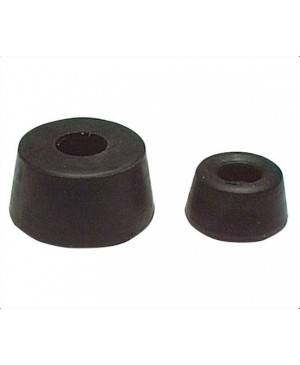 24mm Round Bolt On Rubber Feet Pack of 1000