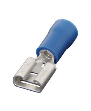 Blue 6.3mm Female Half Insulated Spade Crimp Pack of 1000 H1808A