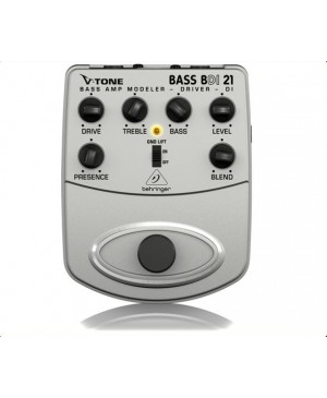 Behringer BDI21 Bass Modeler Direct Record Preamp DI Box