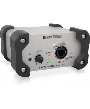 Klark Teknik DN30R 2 Channel Dante Audio Receiver for Ultra Networking