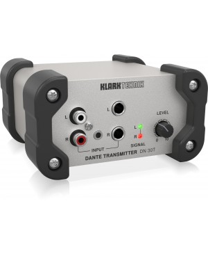 Klark Teknik DN30T 2 Ch Dante Audio Transmitter for Ultra Networking