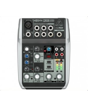 Behringer Q502USB 5-Input 2-Bus Mixer, Mic Preamp