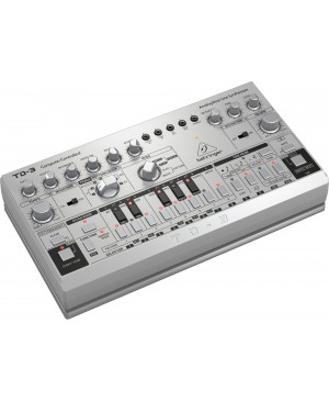 Behringer TD-3-SR Analog Bass Line Synthesizer, VCO, VCF, 16-Step, Silver
