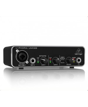 Behringer UMC22 2x2 USB Audio Interface,MIDAS Mic Preamp