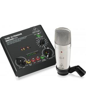 Behringer VOICE-STUDIO Complete Recording Bundle, Mic, Preamp, 16 Voicings