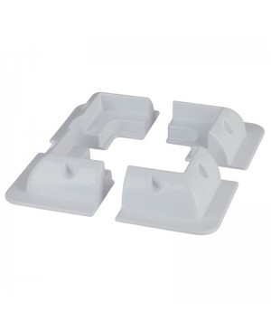 White ABS Solar Panel Corner Mounting Brackets,Set of 4