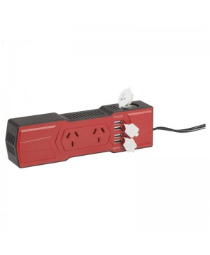 200W Powerboard Inverter,4X4.2A USB,Cigarette socket